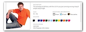 Polo Shirt colour range